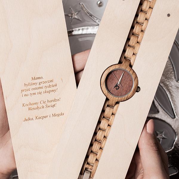 drewniany zegarek glamour dab