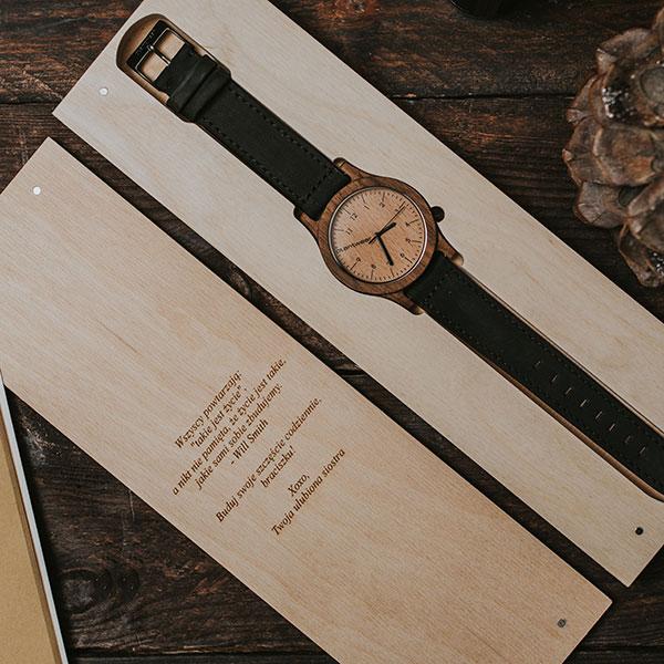 drewniany zegarek heritage orzech