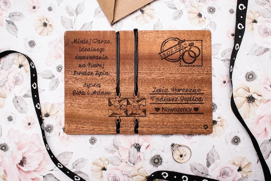kartka ślubna plantwear