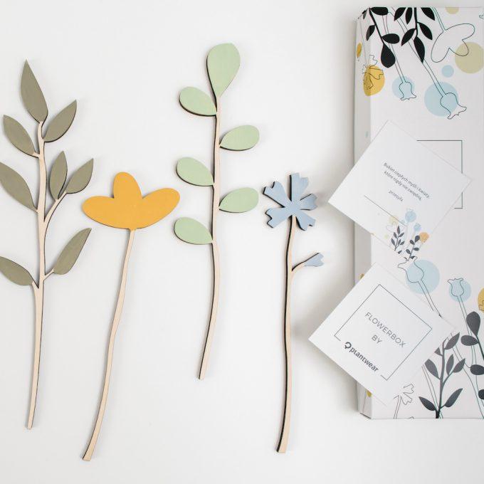 flowebox, drewniane kwiaty Plantwear