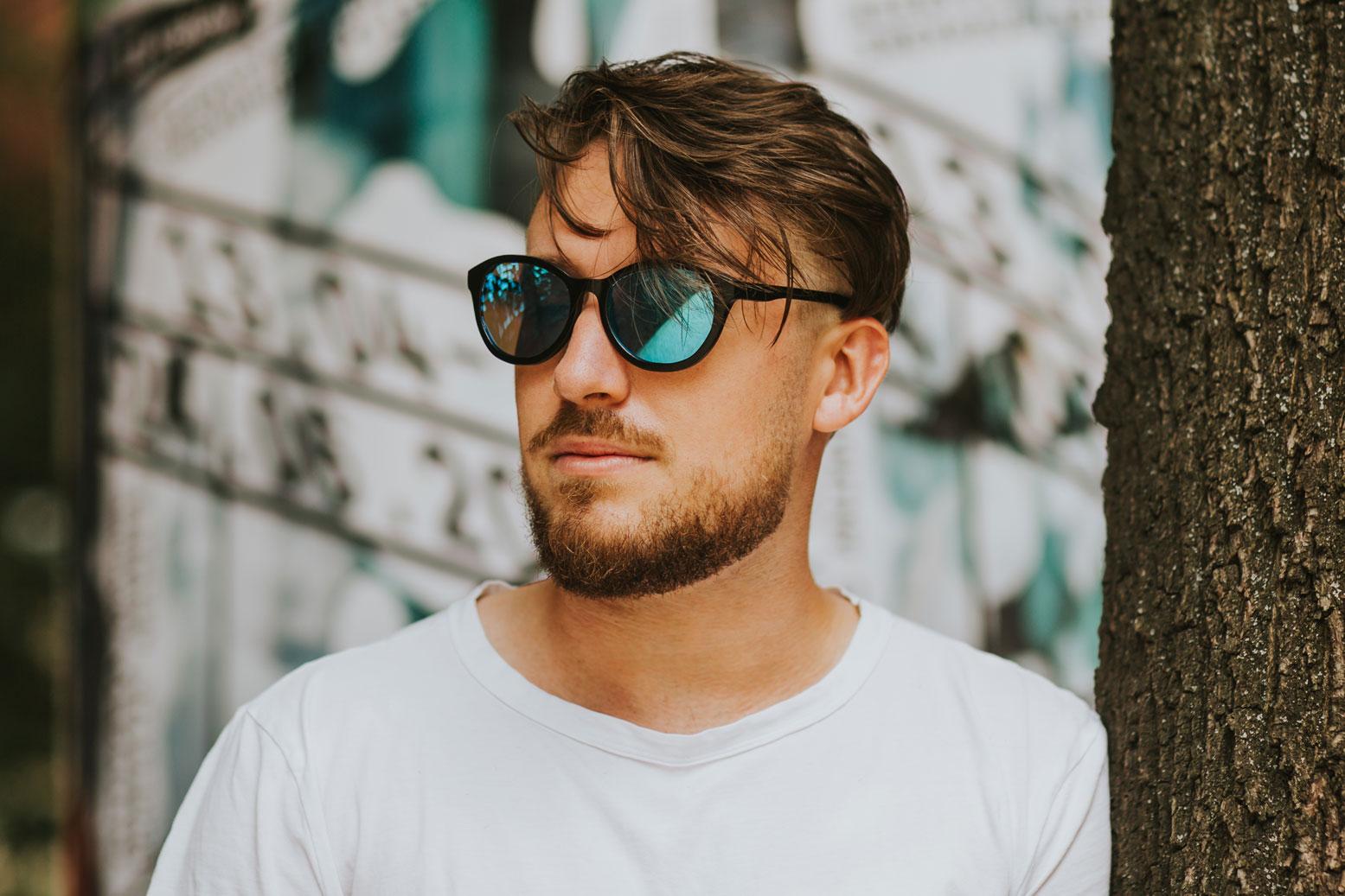 drewniane okulary męskie