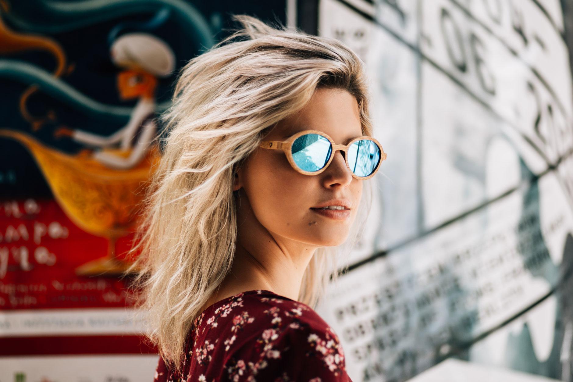 okulary drewniane damskie