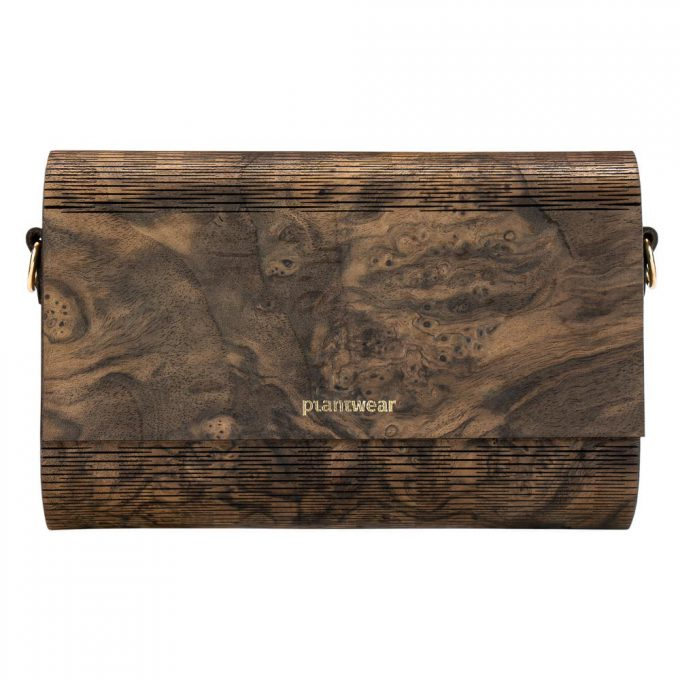 drewniana torebka flap czeczota orzechowa