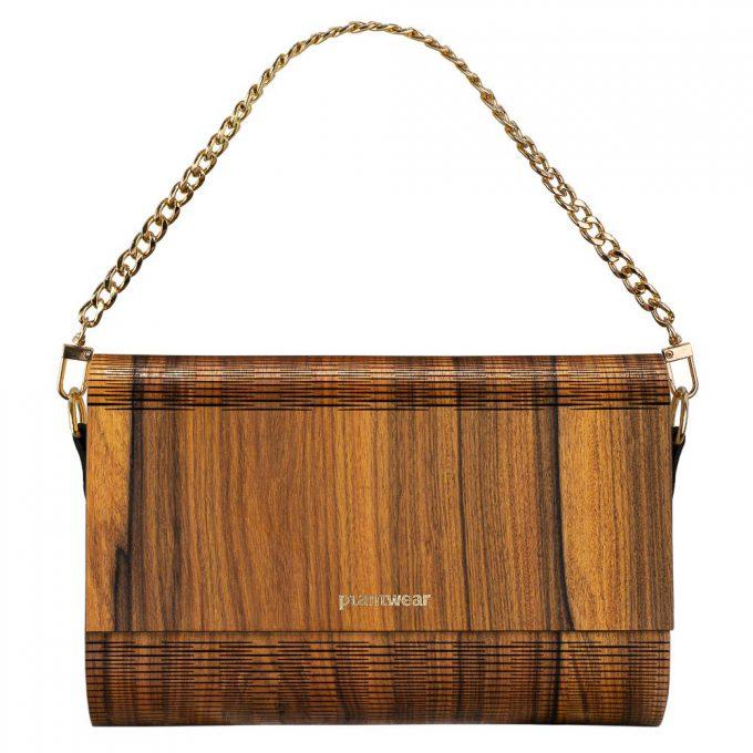 drewniana torebka flap palisander