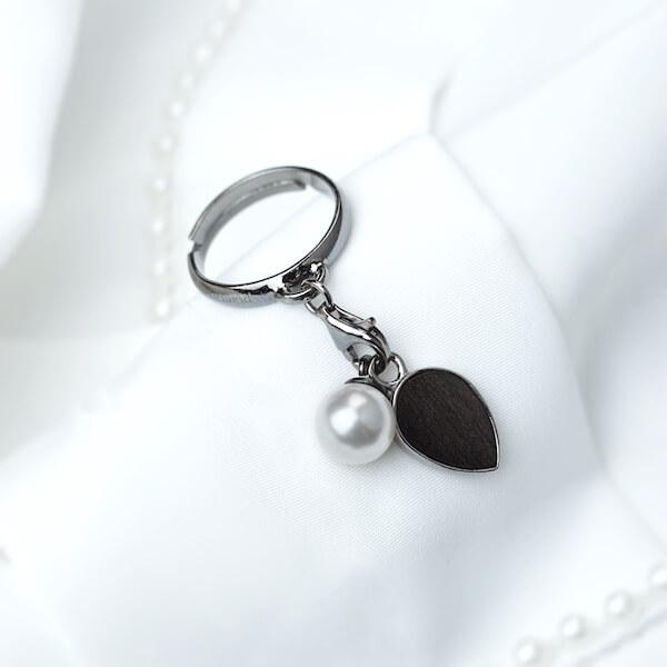 pierścionek z zawieszką łezka perła (1)