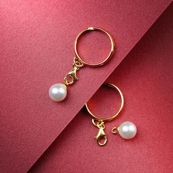 pierścionek z zawieszką perła złoty 1 (1)