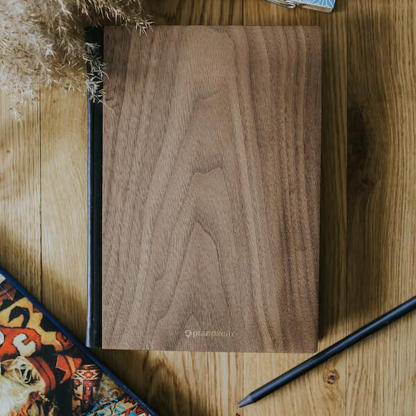 drewniany notes