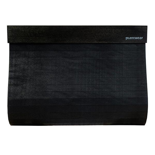 drewniana torebka kopertówka czarny klon