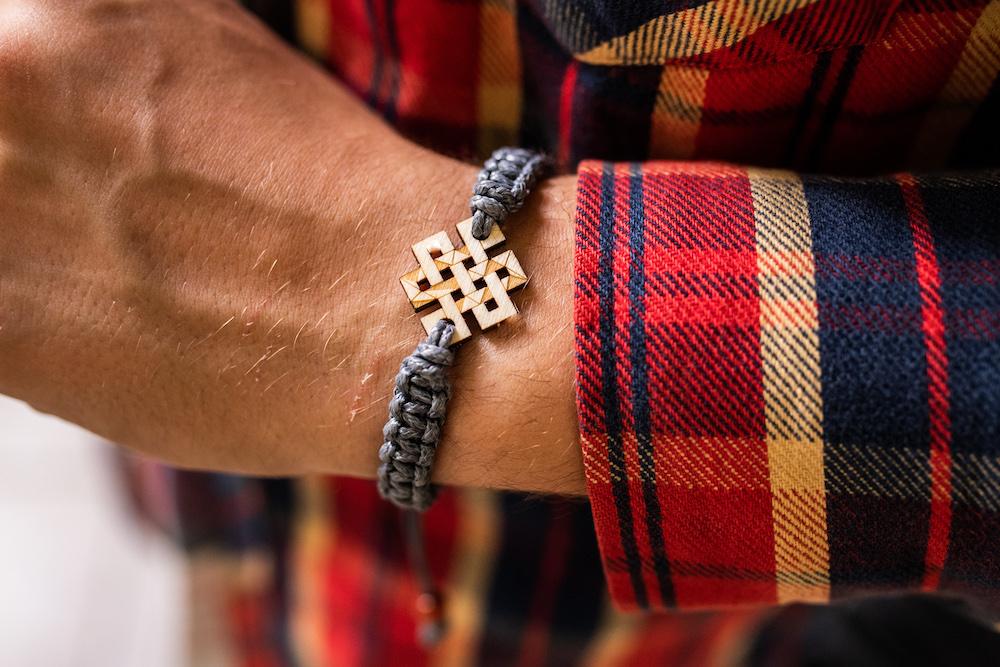 bransoletka Plantwear, bransoletka tybetański znak szczęścia