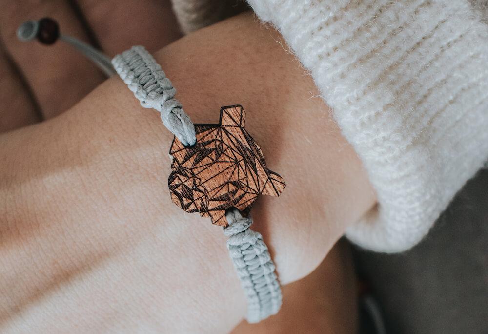 bransoletka Plantwear, bransoletka tygrys