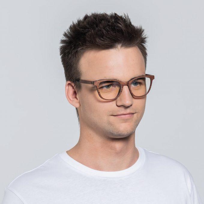 drewniane okulary korekcyjne