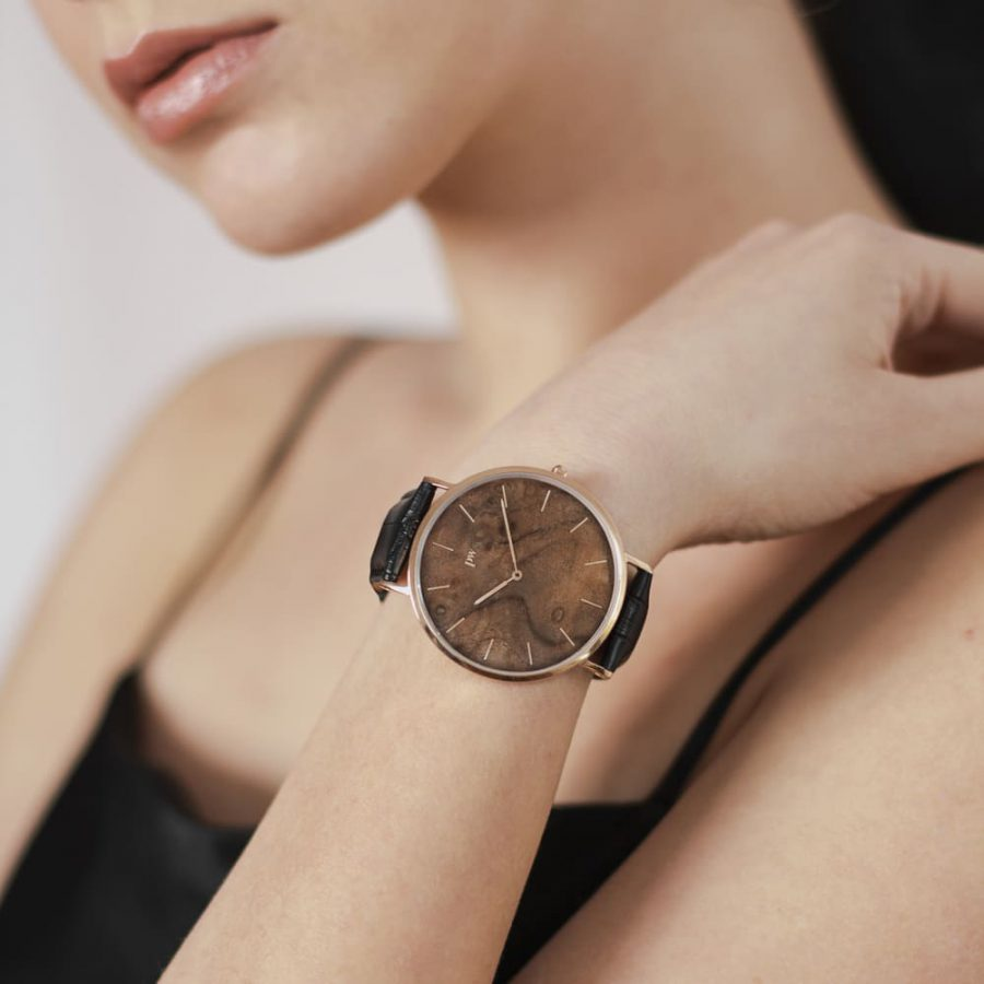 Zegarek Kolekcja Blend - Czeczota - Rose Gold - Czarny Pasek
