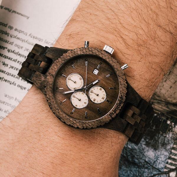 drewniany zegarek fox