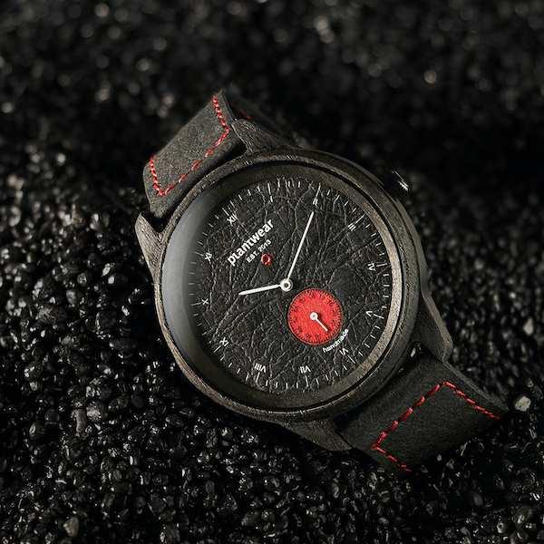 drewniany zegarek Pure Carbon Racing