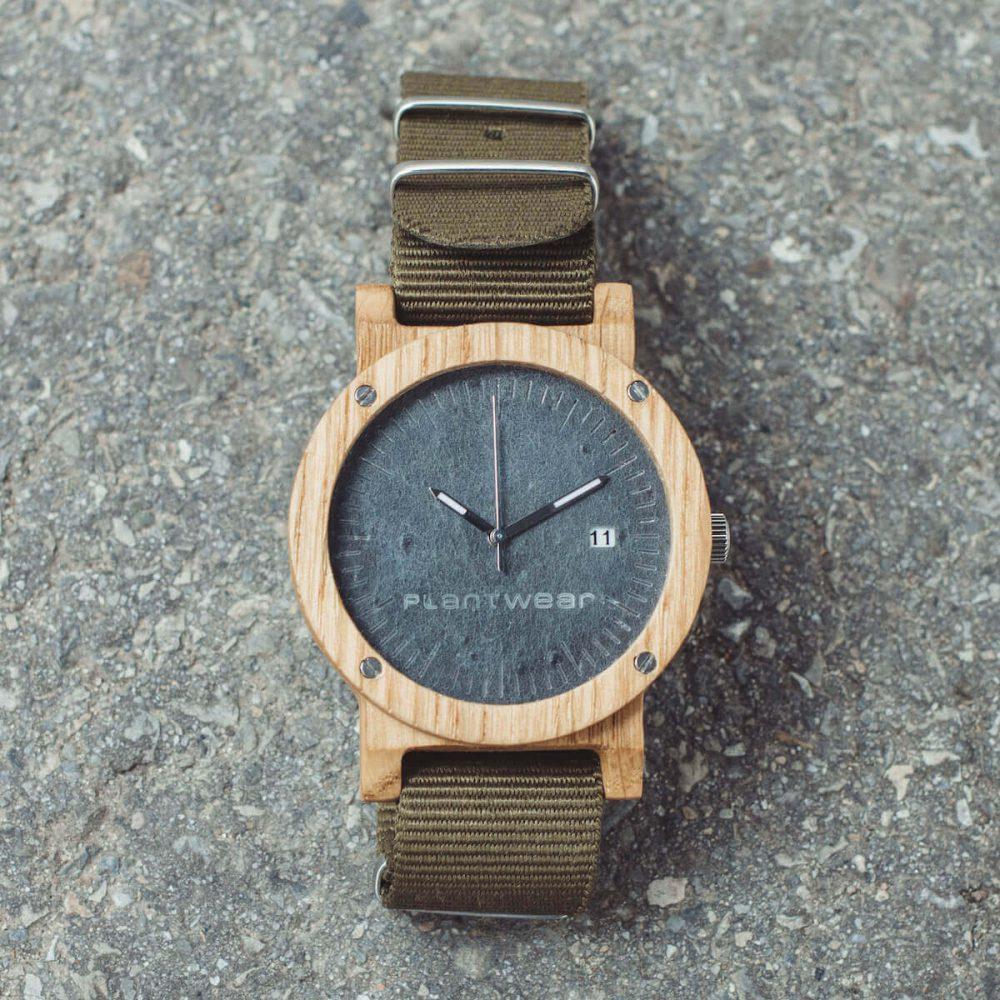 Młodzieńczy Drewniany zegarek - Seria Raw - Dąb - Plantwear Polska PP15