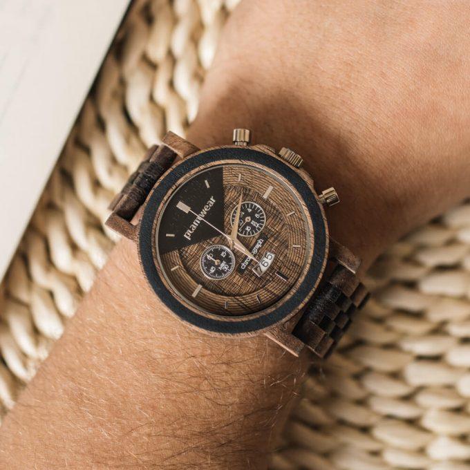 drewniane zegarki