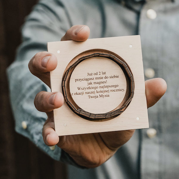 drewniana bransoletka