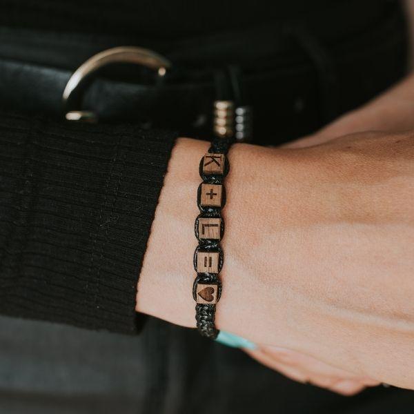 bransoletka personalizowana cube