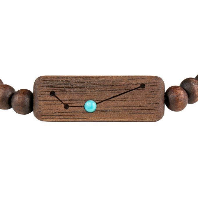 drewniana bransoletka ze znakiem zodiaku baran 3-min
