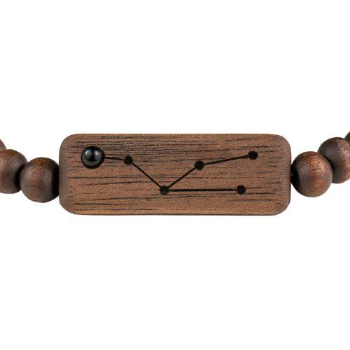 drewniana bransoletka ze znakiem zodiaku byk