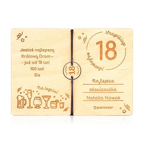 Kartka Na 18 Urodziny Bransoletka Kartka Urodzinowa Plantwear
