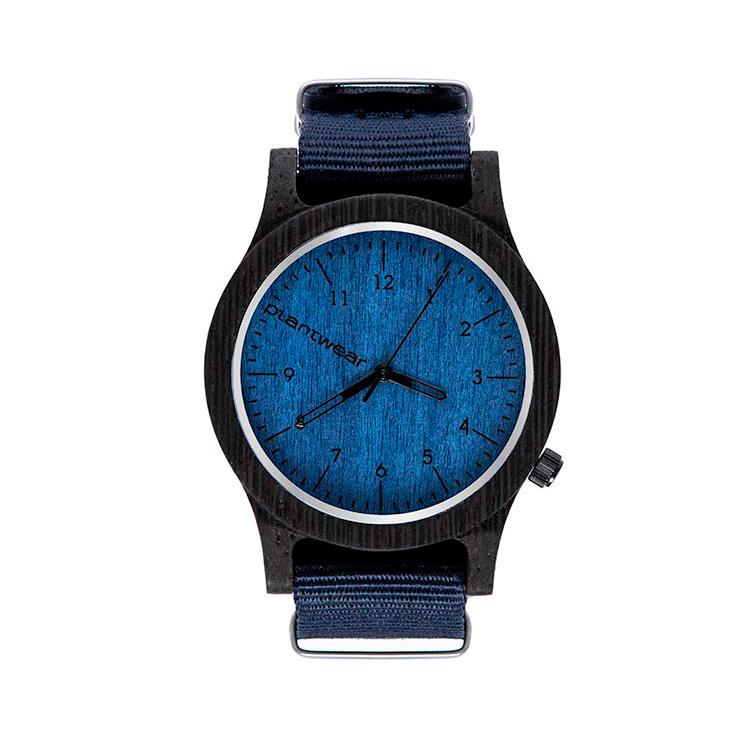 polski zegarek na rękę, plantwear_pl_packshot_drewniane_zegarki_heritage_blue_edition_heban_1