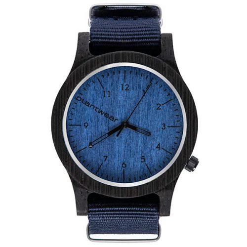 zegarek polski, zegarek na rękę, plantwear_pl_packshot_drewniane_zegarki_heritage_blue_edition_heban_1