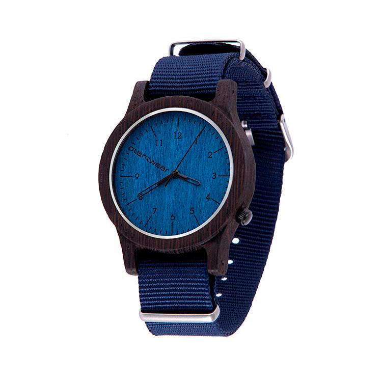 polski zegarek na rękę, plantwear_pl_packshot_drewniane_zegarki_heritage_blue_edition_heban_2