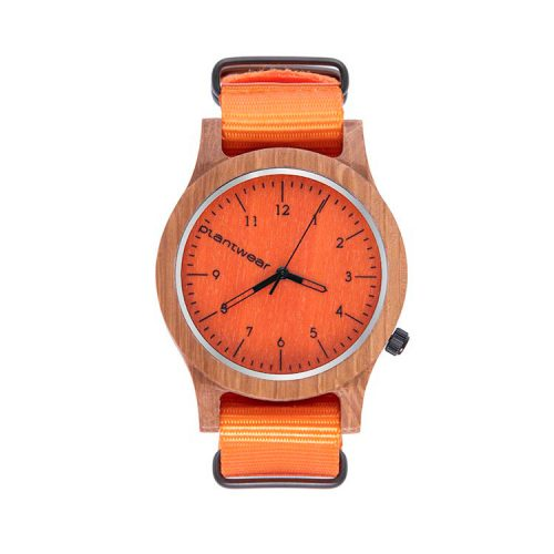 polski zegarek na rękę, plantwear_pl_packshot_drewniane_zegarki_heritage_orange_edition_dab_1