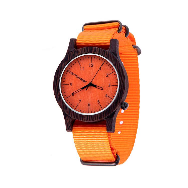 polski zegarek na rękę, plantwear_pl_packshot_drewniane_zegarki_heritage_orange_edition_heban_2