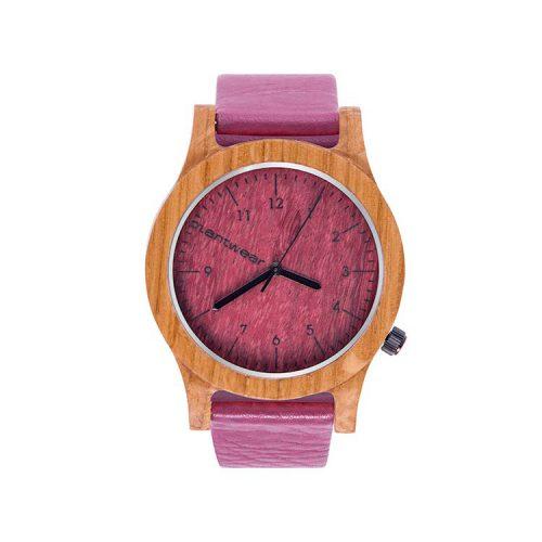 polski zegarek na rękę, plantwear_pl_packshot_drewniane_zegarki_heritage_pink_edition_dab_1