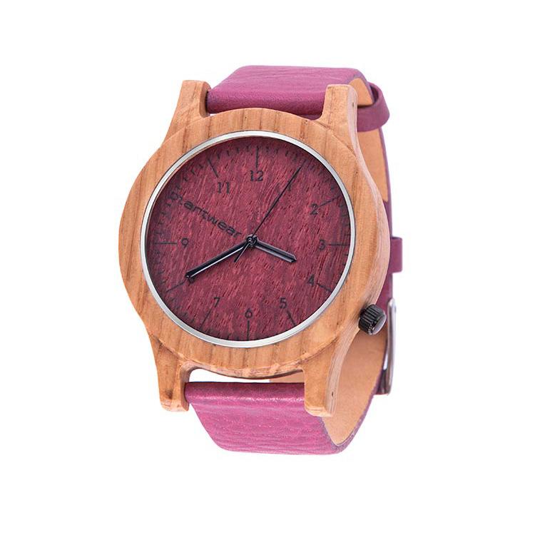 polski zegarek na rękę, plantwear_pl_packshot_drewniane_zegarki_heritage_pink_edition_dab_2