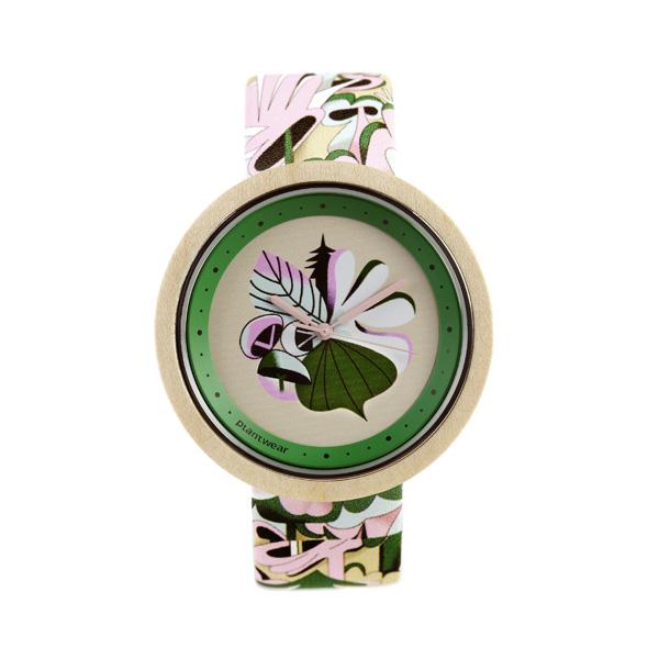 drewniany zegarek print crazy forest