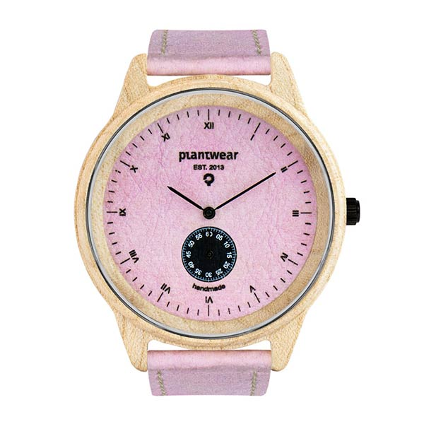 drewniany zegarek pure candy, wegański zegarek
