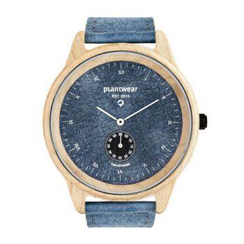 drewniany zegarek pure denim, wegański zegarek