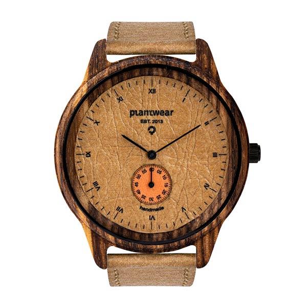 drewniany zegarek pure sand, wegański zegarek