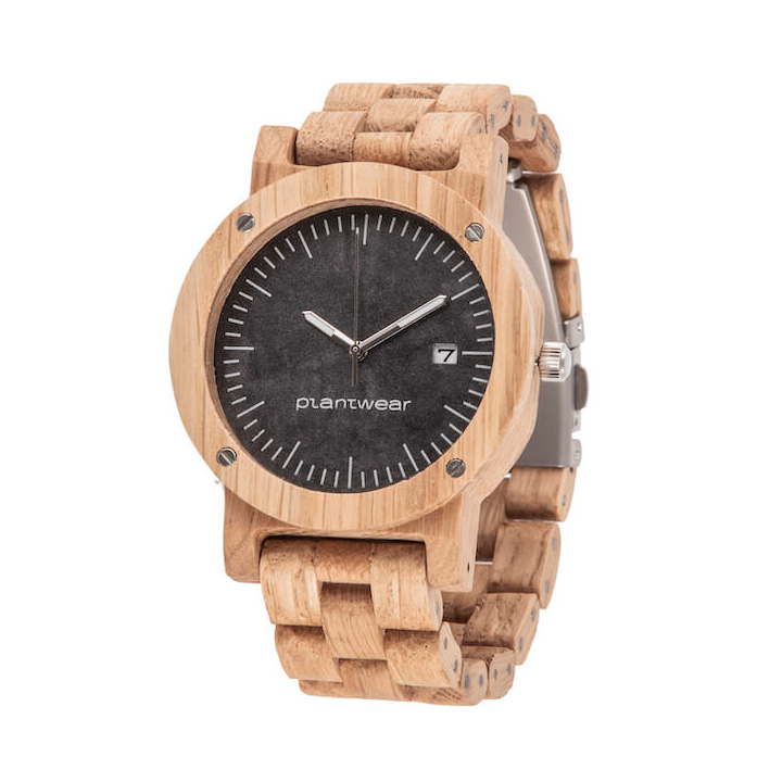 polski zegarek na rękę, plantwear_pl_packshot_drewniane_zegarki_raw_dab_bransoleta_2
