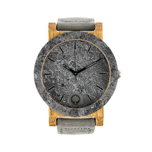 polski zegarek na rękę, plantwear_pl_packshot_drewniane_zegarki_raw_double_silver_dab_skora_01