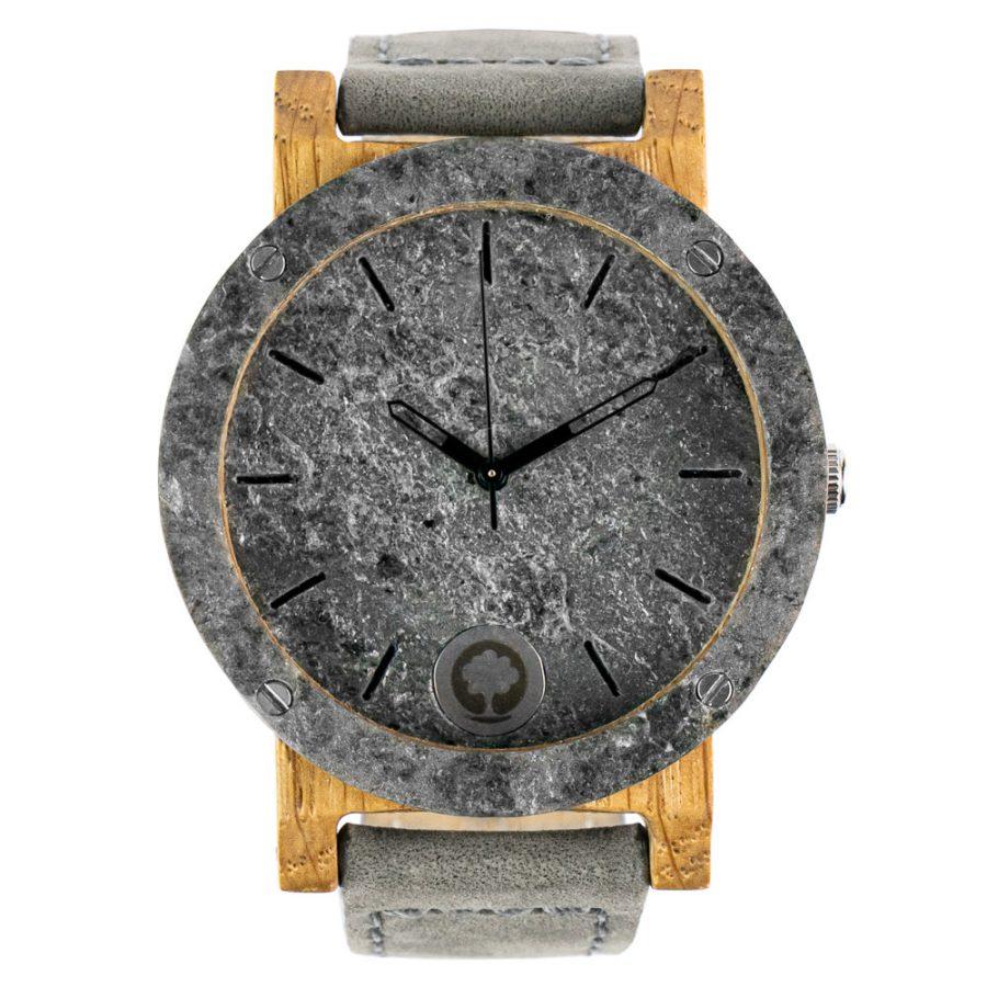 polski zegarek raw double silver dab skóra Plantwear
