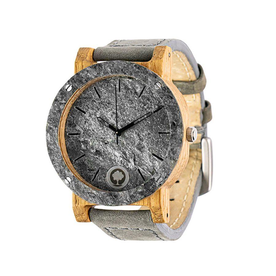 polski zegarek na rękę, plantwear_pl_packshot_drewniane_zegarki_raw_double_silver_dab_skora_02