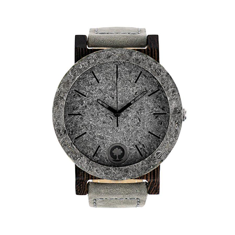 polski zegarek na rękę, plantwear_pl_packshot_drewniane_zegarki_raw_double_silver_heban_skora_01