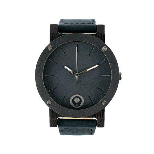 polski zegarek na rękę, plantwear_pl_packshot_drewniane_zegarki_raw_double_stone_heban_skora_01