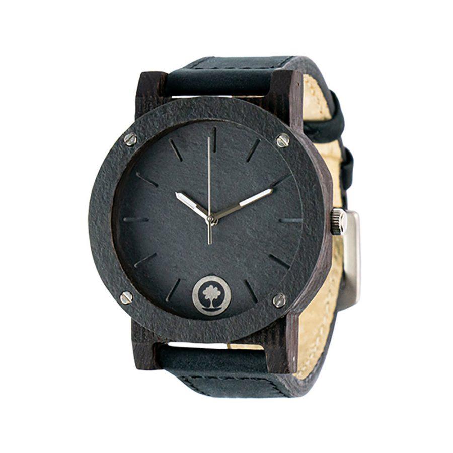 polski zegarek na rękę, plantwear_pl_packshot_drewniane_zegarki_raw_double_stone_heban_skora_02