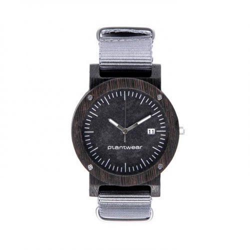 polski zegarek na rękę, plantwear_pl_packshot_drewniane_zegarki_raw_heban_1