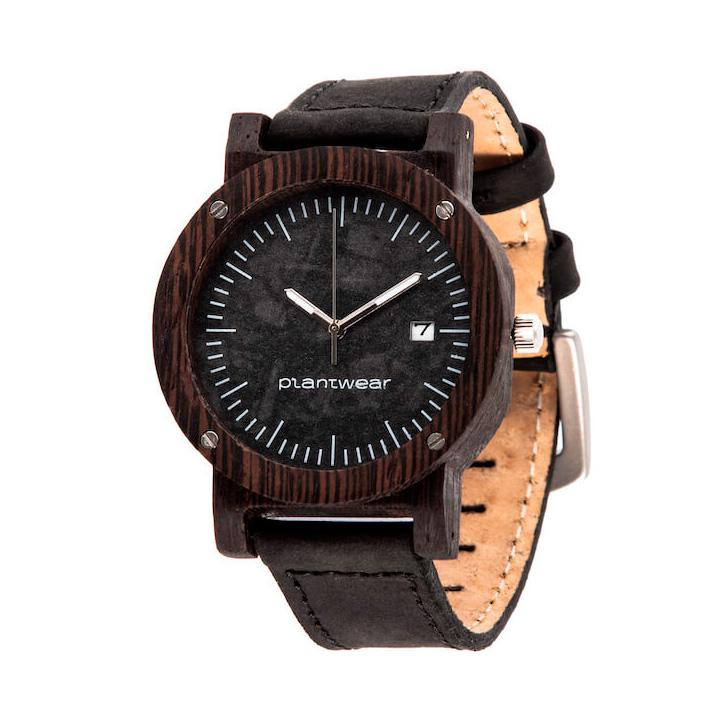 polski zegarek na rękę, plantwear_pl_packshot_drewniane_zegarki_raw_heban_skora_02