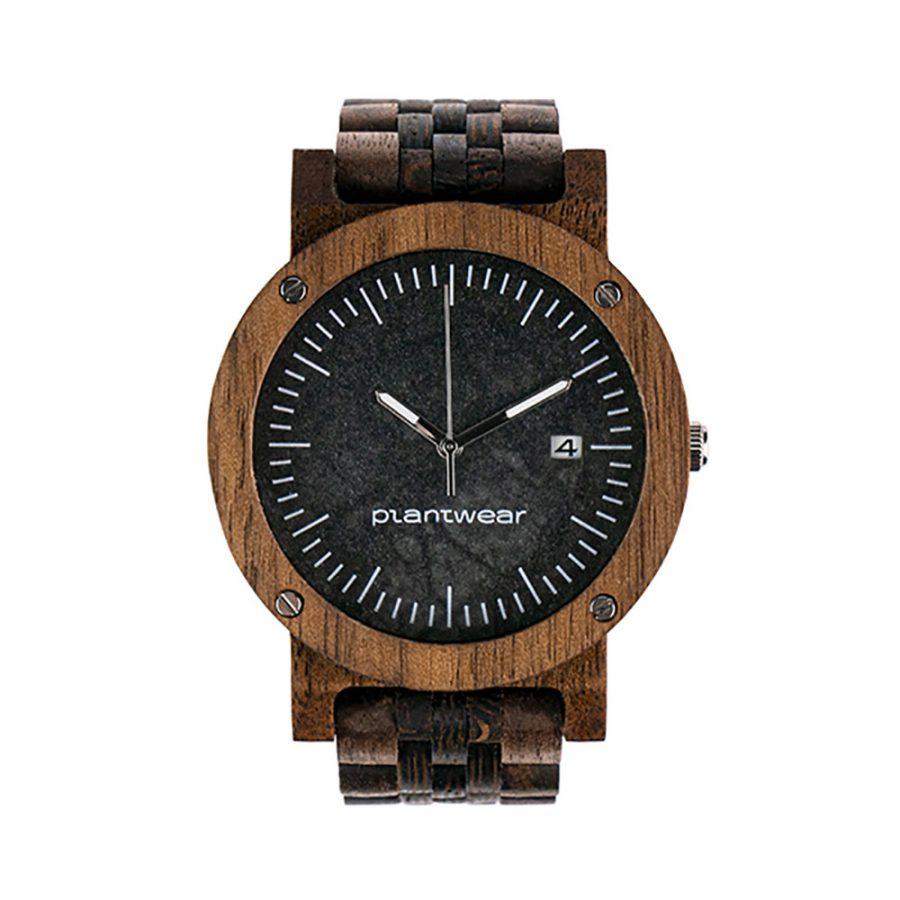 polski zegarek na rękę, plantwear_pl_packshot_drewniane_zegarki_raw_palisander_bransoleta_01