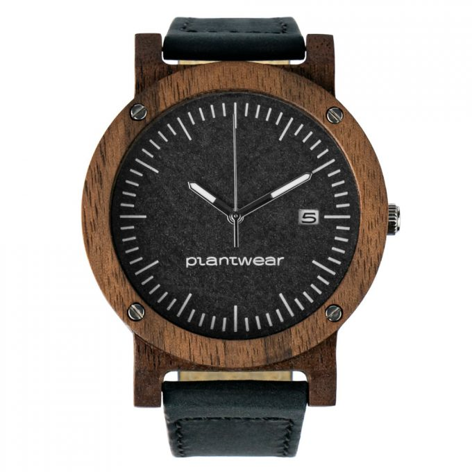 polski zegarek raw palisander skóra Plantwear