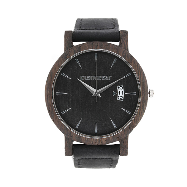 polski zegarek Drewniany zegarek royal czarny dąb