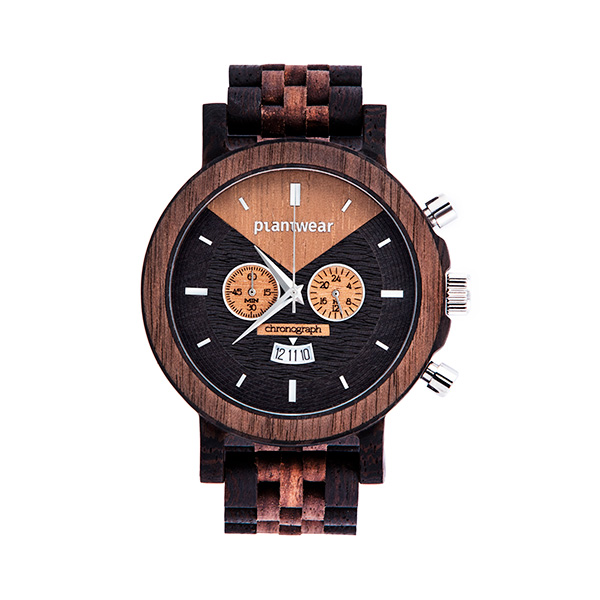 drewniany zegarek select chronograph Plantwear