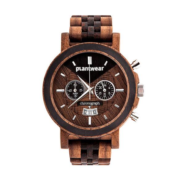 drewniany zegarek select chronograph orzech wenge Plantwear